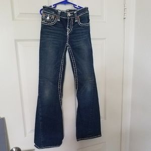 Girls True Religion 10 Heavy Boot low Jeans